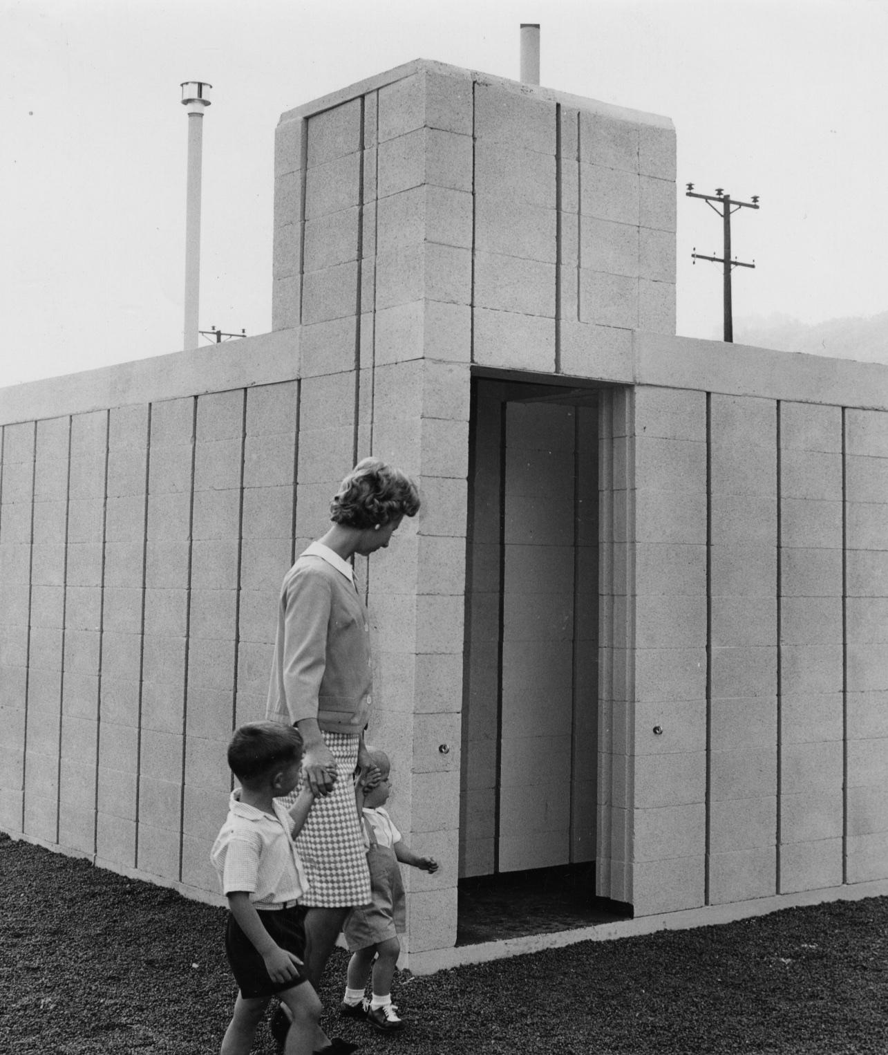 Sept. 27, 1961: A fallout shelter on Neville Island. (Post-Gazette)