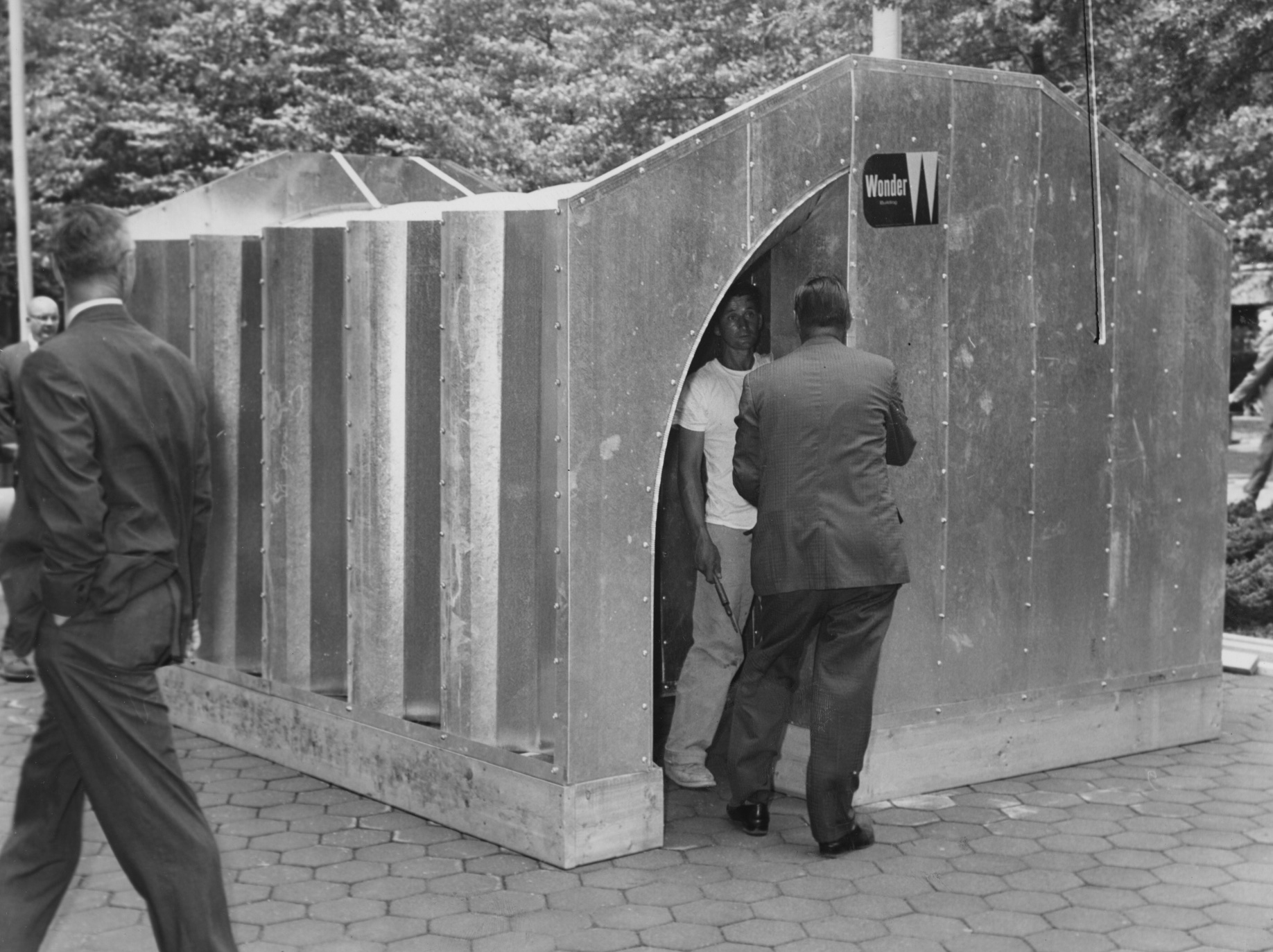 Aug. 1, 1961: No caption provided on the location of or people in this fallout shelter. (Don Bindyke/Post-Gazette)