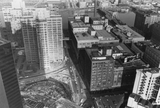 Jan. 14, 1983: The subway turnaround in Gateway Center can be seen a few months before it was covered again. (Ross A. Catanza/The Pittsburgh Press)