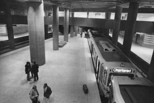 "May 8, 1985: ""After"" at the Steel Plaza station. (Joyce Mendelsohn/Post-Gazette)"