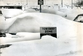 Nothing -- not even snow -- was being hauled away from the parking lot, Ed Morgan, Jan. 21, 1978.