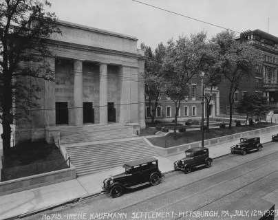 This is how the Irene Kaufmann Settlement in the Hill District looked on July 12, 1929.