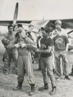 A girl with guts: 17 year-old Shirley Reese was the only girl to skydive with the Oliver High School Black-White Gut Club in 1970. (Anthony Kaminski/The Pittsburgh Press)