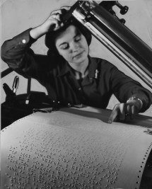 Advances in technology could also make print more accessible to the disabled -- this Braille machine from 1966 could print nearly 100 times faster than previous models. (Post-Gazette)