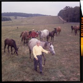 Art Rooney visits Shamrock Farm, a 350-acre stud farm near Winfield, Md., in 1964. (Richard Stacks, Sun Newspapers, published in The Pittsburgh Press Roto Magazine on Sept. 27, 1964).