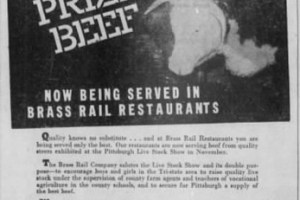 A Brass Rail ad in the Post-Gazette, 1940s)