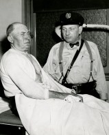 Pasquale Petrone, left, 69, was one of the 22 injured when lightning struck the Knoxville street car on May 5, 1950.