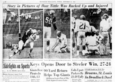 This is how the Post-Gazette used Berman's images the following day.