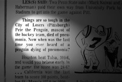 Readers of the Post-Gazette learned of Pete's death on Nov. 29, 1968 -- if they happened to read this small item in the sports section.