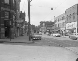 A 1958 photo shows the Isaly's at the corner of Butler and 43rd streets in Lawrenceville. (Courtesy Archive Service Center, University of Pittsburgh.)