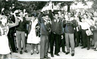 "Participants of ""Operation Amigo,"" Mr. Fernando Balliache is the third on the left."