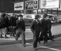Amish visitors to the city. (Post-Gazette)