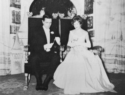 Prince Charming Henry John Heinz III and Elizabeth Cappeau Brooks at the Cinderella Ball, 1961. (Cinderella Ball Committee Records, MSS 1109, Detre Library & Archives, Heinz History Center)