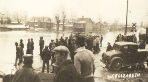 This is a look at the historic 1936 Flood on Third Street in West Elizabeth.