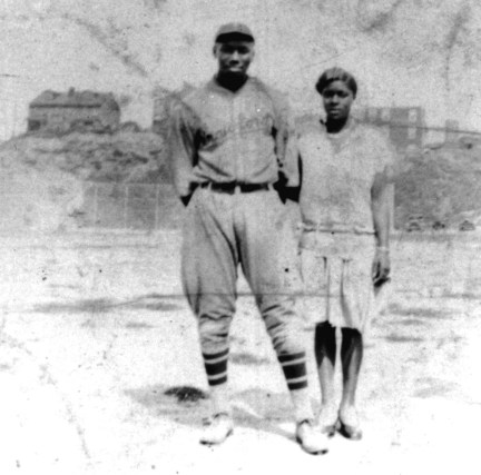 Josh with future wife Helen Mason at Ammon Field, 1929. (Josh Gibson Foundation Collection, Rivers of Steel National Heritage Area)