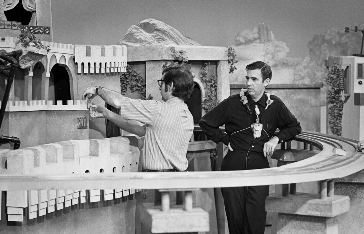 On The Set Of Mister Rogers Neighborhood In 1971
