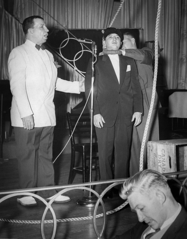 Dewey Deavers hypnotized Thomas Smith and then hanged him in 1958. He performed this feat on several occasions. The hypnotized subject remained unharmed. (Post-Gazette)