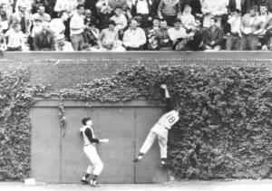 Bill Virdon robs someone of a potential big hit.