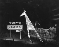 "This undated photo features a member of Clark's ""Center of Attraction Zoo."" The television ad campaign showed cartoon animals crooning ""I want a Clark Bar!"" and ran during the 1960s. (Pittsburgh Press)"