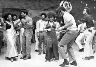 Inmates and their significant others dance at the Vanguard Jaycees dance. Photo published May 13, 1972. (Pittsburgh Press)