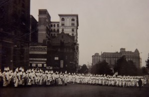 The klan marches on Pennsylvania Avenue.