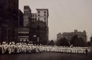 The klan marches on Pennsylvania Avenue.