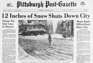 Page A-1 of the Pittsburgh Post-Gazette on Jan. 21, 1978.