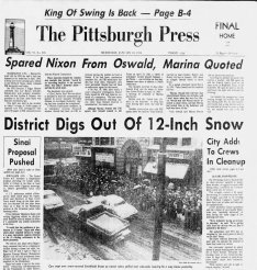 Page A-1 of the Pittsburgh Press on Jan. 18, 1978.