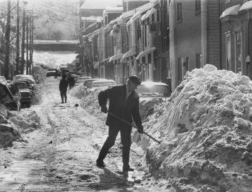 This South Side resident couldn't know that even worse weather was in store as he shoveled out 16th Street on Jan. 24, 1978.