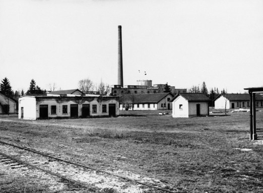 The exterior of the concentration barracks of Dachau, shown March 23, 1933.