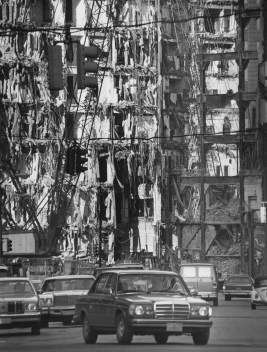 Jenkins Arcade being demolished. (Jim Fetters/Pittsburgh Press)