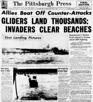 The June 7, 1944, Press front page.