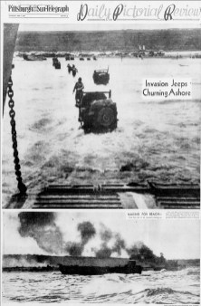 A photo page in the June 7, 1944, Sun-Telegraph.