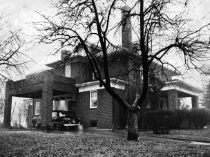 Back view of the home at 1023 Green Tree Road. (Post-Gazette Archive)