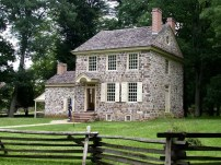 Valley Forge headquarters in the summer. (National Park service, U.S. Department of the Interior)