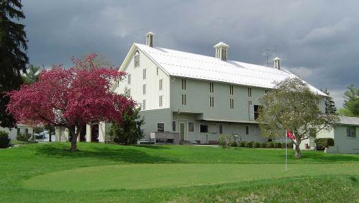 The Eisenhower Farm barn dates from the 1880's. The President stored hay on the upper level and kept his horses in the lower. Today it houses some of his farm machinery. (Photo credit: National Park Service)
