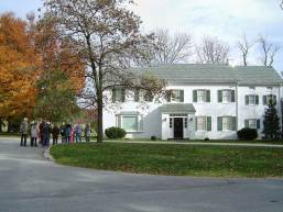 The Eisenhowers purchased their Gettysburg farm in 1950. Most of the farm house dated from the mid 1700's and was in disrepair. Their reconstruction of the home was completed in 1955. (Photo credit: National Park Service)