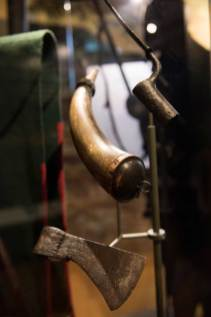Artifacts at the Fort Necessity National Battlefield Visitor Center in Farmington on June 22, 2016. (Haley Nelson/Post-Gazette)