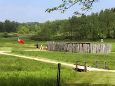 The reconstructed fort at Fort Necessity National Battlefield near Farmington in Fayette County. (Bob Batz Jr./Pittsburgh Post-Gazette)