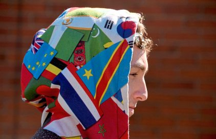 Carlynton graduate Patrick Zekler, 19, of Neville Island, pulled up the hood of his uncle's colorful hoodie, decorated with a pattern of flags, Monday March 5, 2018 in Neville Island. His uncle died from an overdose of cocaine and fentanyl on July 2, 2017. (Darrell Sapp/Post-Gazette)