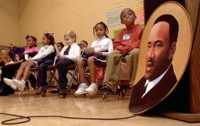 Students at Grove Patterson Academy in Toledo await the start of the Third Annual Martin Luther King, Jr. oratorical competition in 2004. Blade file photo