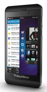 BlackBerry Z10 is an all-touch smartphone.