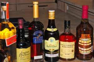 Various rum brands from the Caribbean (left to right): 10 Cane (Trinidad & Tobago); English Harbour (Antigua & Barbuda); Brugal (Dominican Republic); Rhum Barbancourt (Haiti); Chairman's Reserve (St. Lucia) and 1 Barrel (Belize). (Credit: Larry Luxner)