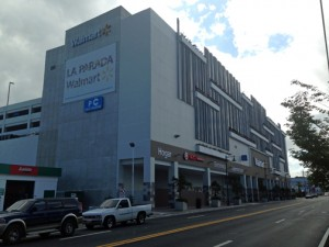 Walmart SuperCenter in Santurce is a six-story, 145,000-square-foot building.