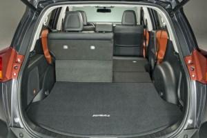 With rear seats folded, RAV4 has a maximum cargo capacity of 73.4 cubic feet.