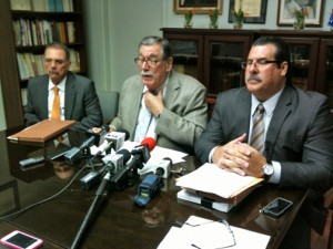 From left: Attorneys Harold Vicente, José Andréu-García and José Andréu-Fuentes