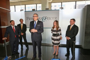 From left: Firm attorneys Reyes,  Feiger, Friedman, Ramírez and López during the recent inauguration.