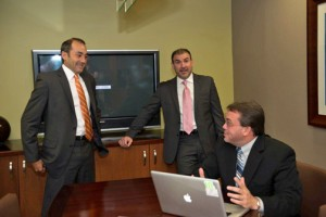 Fusionworks founding partners (from left) Leslie Luciano, Jorge Mejía and José Santiago.
