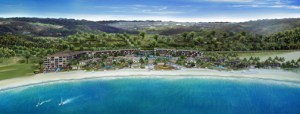 The Koi Resort & Residences will be located on 16 acres of beachfront property along Half Moon Bay, adjacent to the Royal St. Kitts Golf Club.