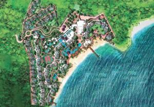 Artist rendering of the sprawling Park Hyatt Hotel at Banana Bay Peninsula.